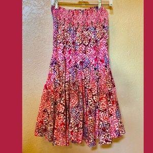 Dresses & Skirts - Colorful Boho  Flare Twirly  Skirt STRETCHY WAIST